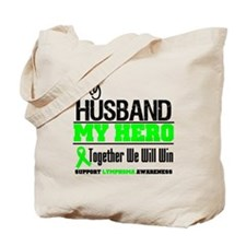 Lymphoma Hero Husband Tote Bag