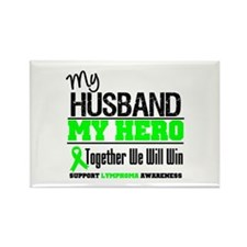 Lymphoma Hero Husband Rectangle Magnet