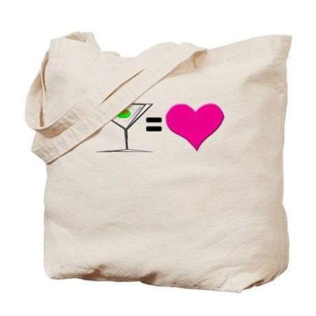 Martini = Love Tote Bag