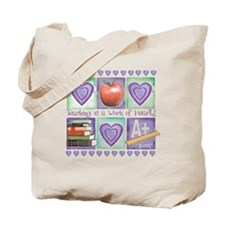 Cute Teach for america Tote Bag