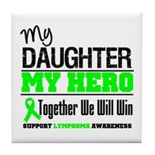 Lymphoma Hero Tile Coaster