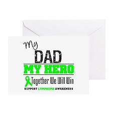 Lymphoma Hero Dad Greeting Card