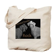 Cute Poodles rock Tote Bag