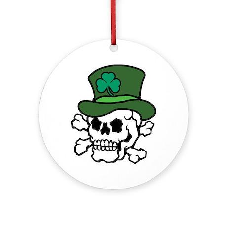 Skull Leprechaun Ornament (Round)