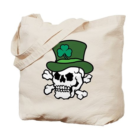 Skull Leprechaun Tote Bag