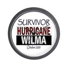 Survived Hurricane Wilma Wall Clock