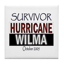 Survived Hurricane Wilma Tile Coaster