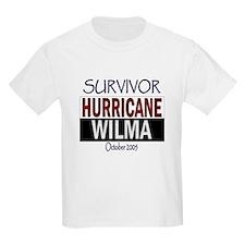 Survived Hurricane Wilma Kids T-Shirt
