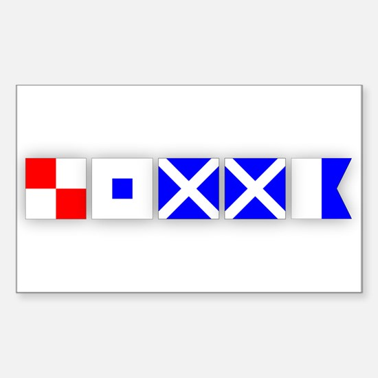 USMMA 2 Rectangle Decal