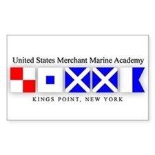 USMMA 1 Rectangle Decal