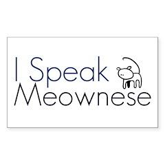 I speak Meownese Rectangle Decal