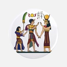 "Queen Isis & Ramesses 3.5"" Button"
