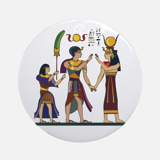 Queen Isis & Ramesses Ornament (Round)
