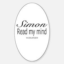 SIMON MENTALIST Oval Decal