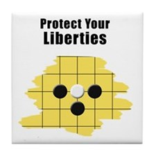 Protect Your Liberties Tile Coaster