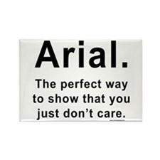 Arial Font Humor Rectangle Magnet