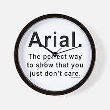 Arial Font Humor Wall Clock