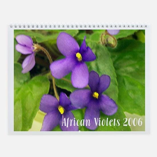 African Violet Wall Calendar