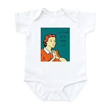 i can't wait! Infant Bodysuit