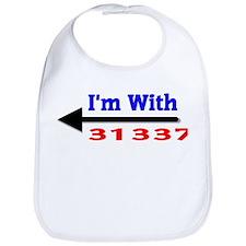 I'm With 31337 Bib