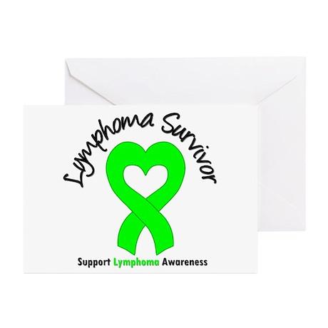 LymphomaSurvivorHeart Greeting Cards (Pk of 10)