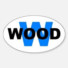 W WOOD (WILDWOOD) Oval Decal