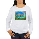 Guineas On Opal Women's Long Sleeve T-Shirt