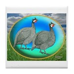 Guineas On Opal Tile Coaster