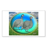 Guineas On Opal Rectangle Sticker 10 pk)
