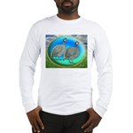 Guineas On Opal Long Sleeve T-Shirt
