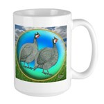 Guineas On Opal Large Mug