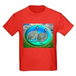 Guineas On Opal Kids Dark T-Shirt