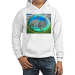 Guineas On Opal Hooded Sweatshirt