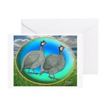Guineas On Opal Greeting Cards (Pk of 10)