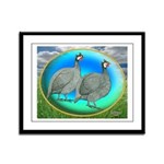 Guineas On Opal Framed Panel Print