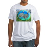 Guineas On Opal Fitted T-Shirt