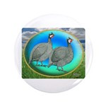 "Guineas On Opal 3.5"" Button"