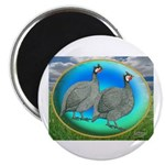 "Guineas On Opal 2.25"" Magnet (100 pack)"