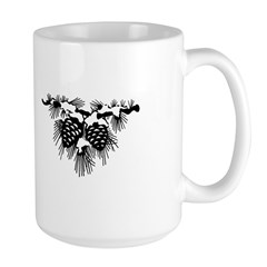 Black Pinecones Mug