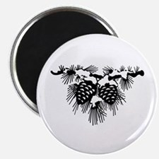 Black Pinecones Magnet