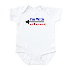 I'm With eleet Infant Creeper