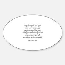 EXODUS 25:35 Oval Decal