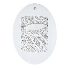 Funny Miro Oval Ornament