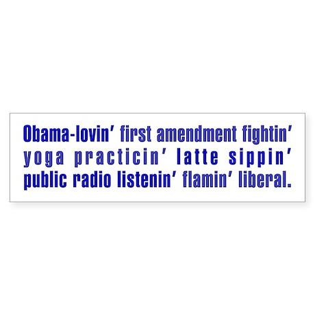 Flaming Liberal - Bumper Sticker