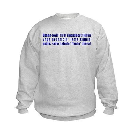 Flaming Liberal - Kids Sweatshirt