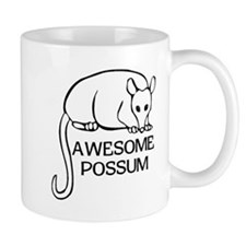 Awesome Possum Small Mugs