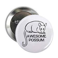 "Awesome Possum 2.25"" Button"