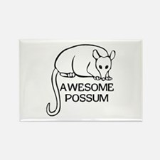 Awesome Possum Rectangle Magnet