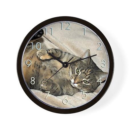purr machine Wall Clock