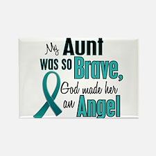 Angel 1 TEAL (Aunt) Rectangle Magnet